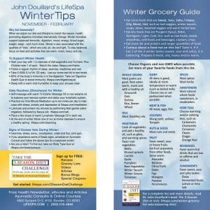 LifeSpa - Winter Grocery List image 1