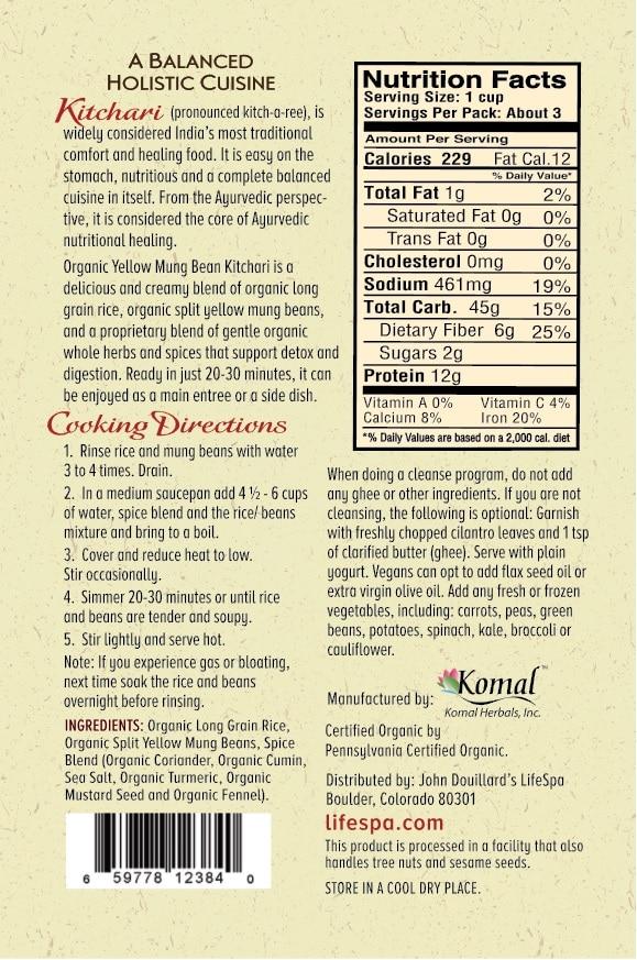 Organic Kitchari Packets