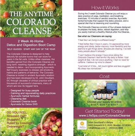 LifeSpa - Anytime Colorado Cleanse Rack Card image 1