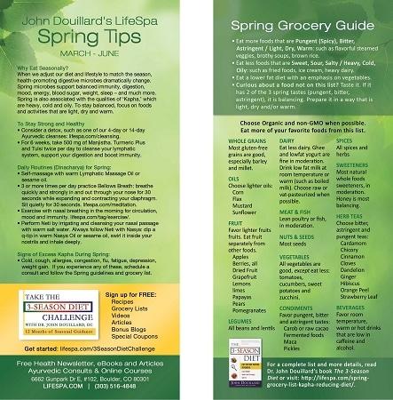 LifeSpa - Spring Grocery List image 1