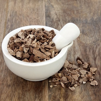 herbs for menopause, lifespa-image-wild-yam-root-white-bowl-wooden-table-background