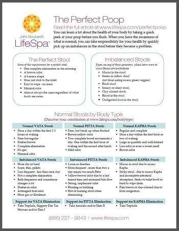 LifeSpa - Perfect Poop Chart image 1